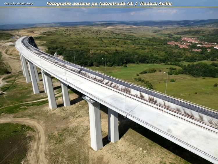 Aciliu Viaduct Fotografie aeriana pe Autostrada A1 Viaduct Aciliu Poza zilei