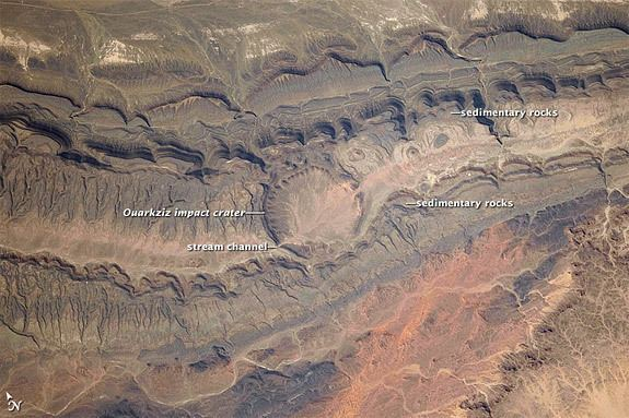 Acraman crater Earth from Space Ouarkziz Impact Crater Space and Astronomy news