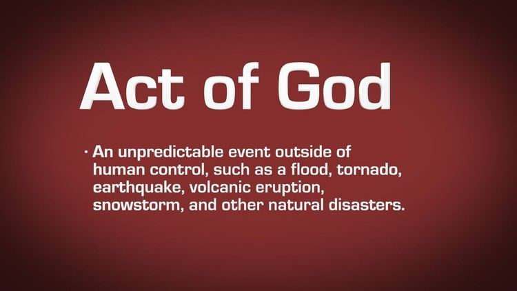 Act of God Act of God Definition YouTube