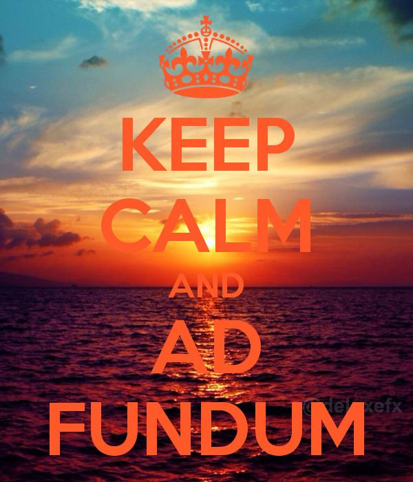 Ad Fundum KEEP CALM AND AD FUNDUM Poster Cleo Keep CalmoMatic