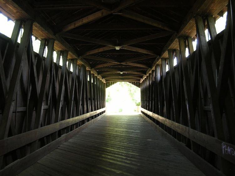 Ada Covered Bridge Outdoor Michigan Leonard Field amp Ada Covered Bridge Township Park