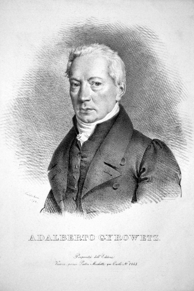 Adalbert Gyrowetz FileAdalbert Gyrowetz Lithojpg Wikimedia Commons
