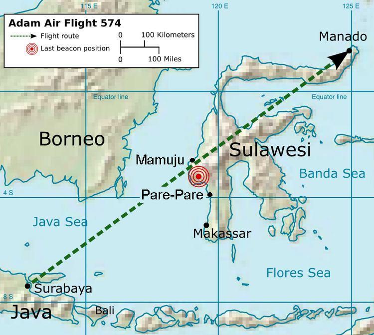 Adam Air Flight 574 Adam Air Flight 574 Wikipedia