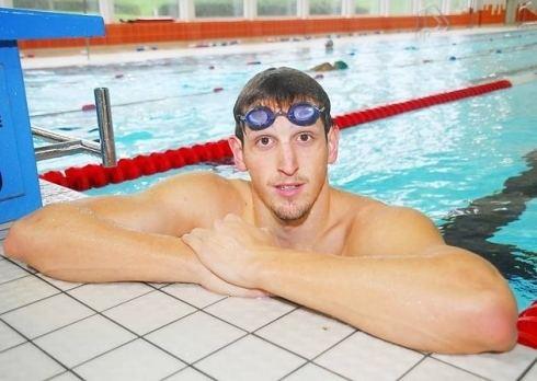 Adam Brown (swimmer) Swimmer Adam Brown back training in Hatfield ahead of