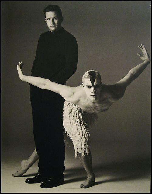 Adam Cooper (dancer) Choreographer Matthew Bourne with dancer Adam Cooper as
