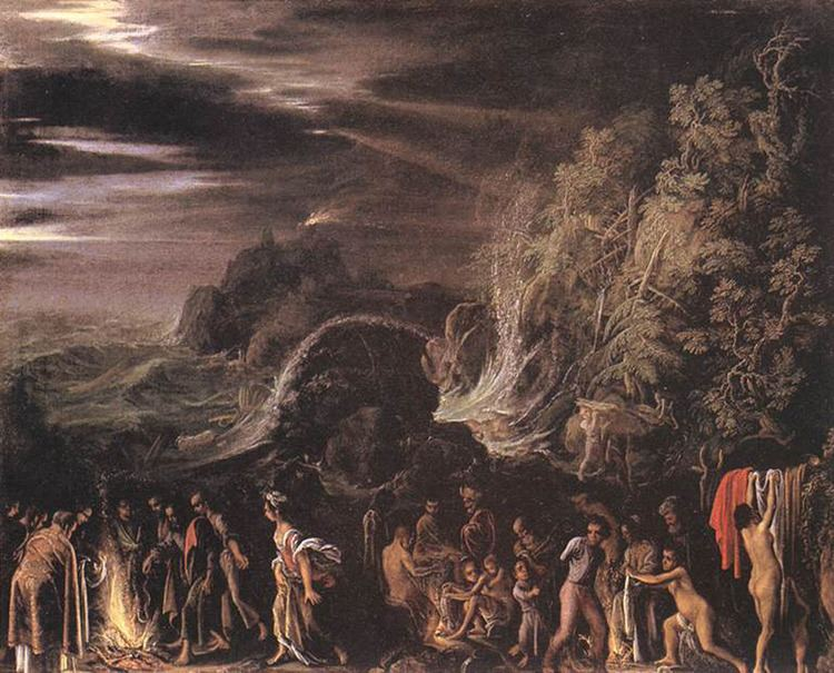 Adam Elsheimer St Paul on Malta Adam Elsheimer 1600 silver and