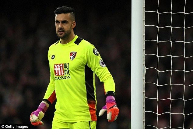 Adam Federici Bournemouth goalkeeper Adam Federici out for the season Daily Mail