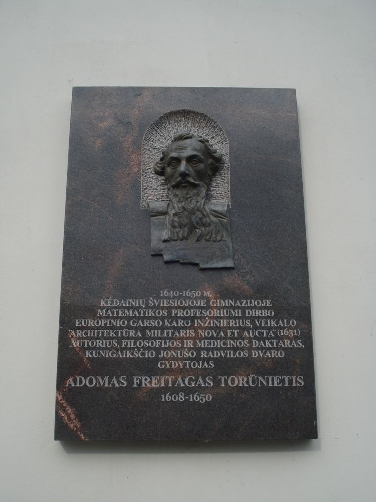 Adam Freytag FileAdam Freytag plaque in KdainiaiJPG Wikimedia Commons