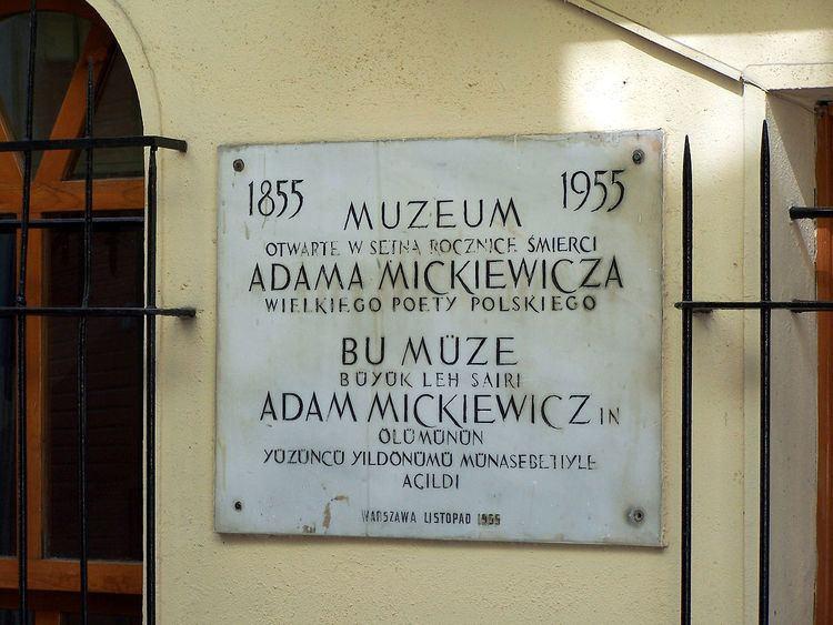 Adam Mickiewicz Museum, Istanbul