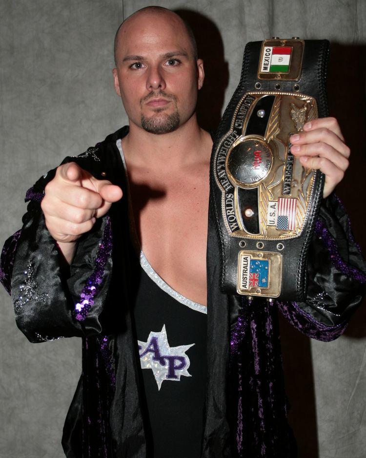 Adam Pearce Scrap Iron Adam Pearce prepares to defend his NWA World