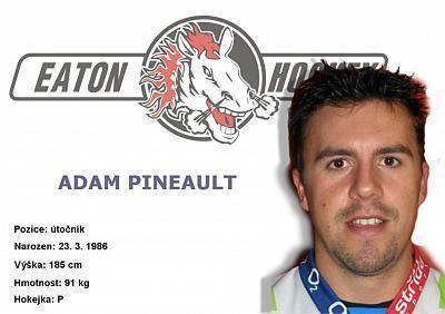 Adam Pineault Adam Pineault Autogramov karty Prcka