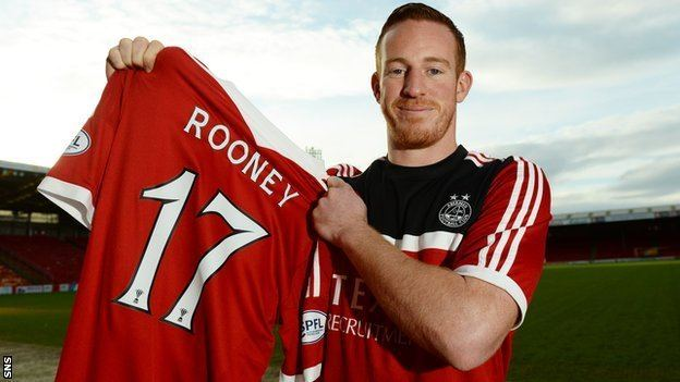 Adam Rooney BBC Sport Aberdeen Adam Rooney relishes second spell in