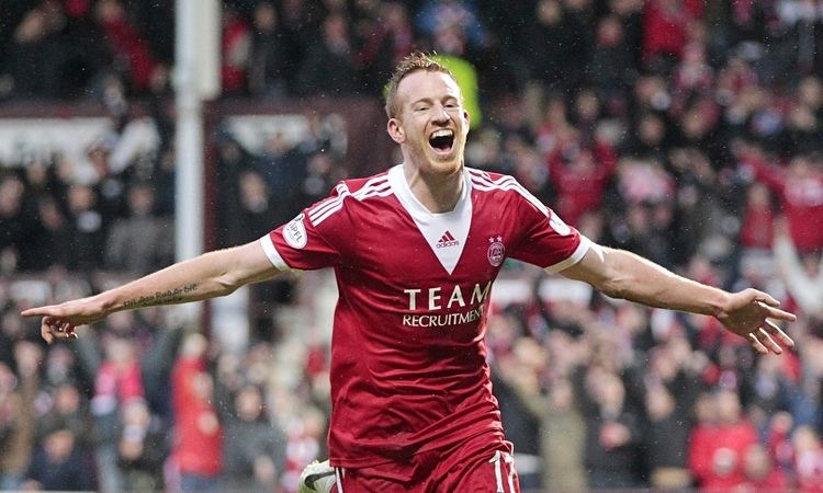 Adam Rooney Aberdeen 21 Motherwell Scottish Premiership match