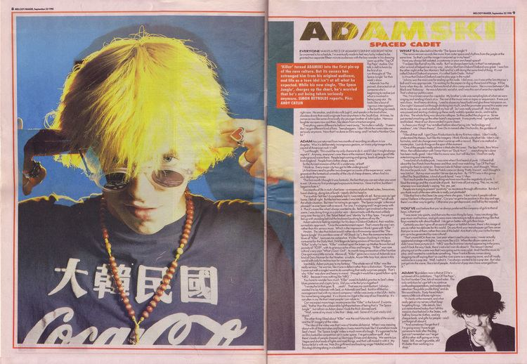 Adamski Simon Reynolds interviews Adamski 22nd Sepember 1990
