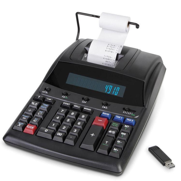 Adding machine The Transfer To PC Adding Machine Hammacher Schlemmer