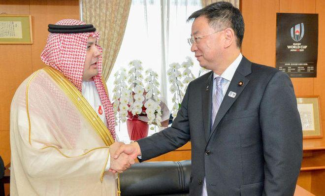 Adel Al Toraifi AlToraifi meets Japanese culture minister Arab News