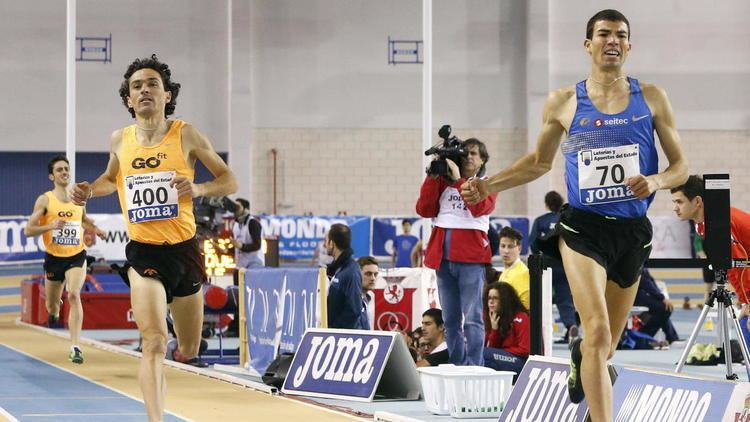 Adel Mechaal Campeonato de Espaa de atletismo Mechaal se exhibe en