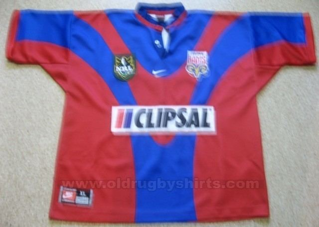 Adelaide Rams Adelaide Rams Home Rugby Shirt 1998 Added on 20130218 1039