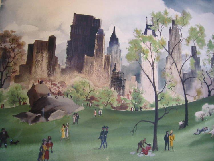 Adolf Dehn Central Park Poster Adolf Dehn For Sale Antiquescom
