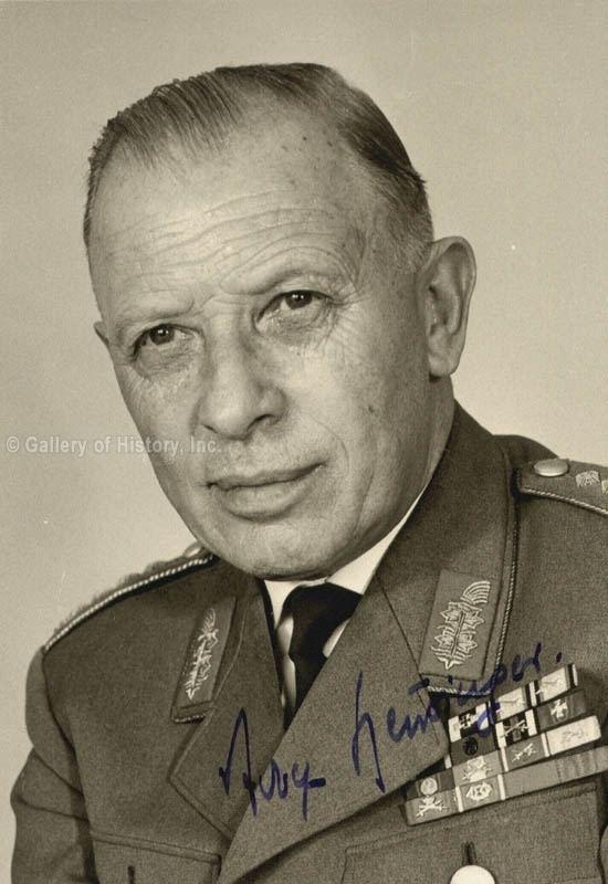 Adolf Heusinger HistoryForSale Autographs and Manuscripts General
