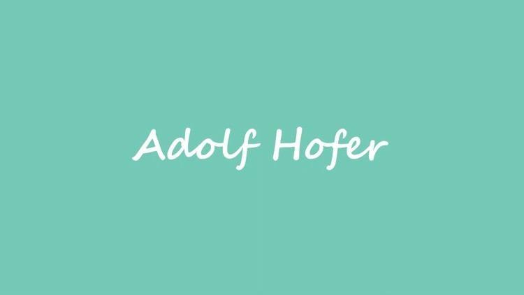 Adolf Hofer (politician) OBM Politician Adolf Hofer YouTube