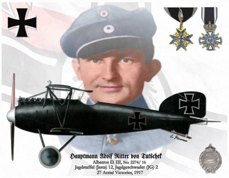 Adolf Ritter von Tutschek Hauptmann Adolf Ritter von Tutschek Posters by AHAviationArt