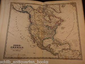 Adolf Stieler 1877 Adolf Stieler Hand ATLAS 31 Maps Cartography World Geography