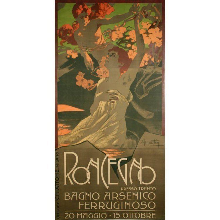 Adolfo Hohenstein Adolfo Hohenstein Italian Art Nouveau Period Poster circa