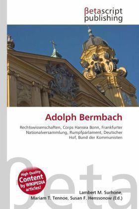 Adolph Bermbach Adolph Bermbach Buch buecherde