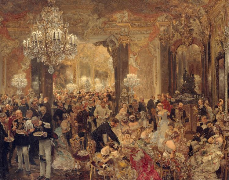Adolph Menzel FileAdolph Menzel Das Ballsouper Google Art Project