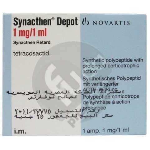 Adrenocorticotropic hormone (medication) Synacthen Depot 1Mg1Ml 1A Fouda Pharmacy