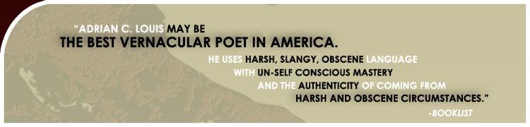 Adrian C. Louis American Author and Poet Adrian C Louis