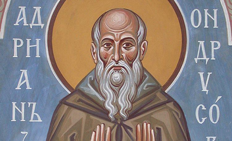 Adrian of Canterbury Saint Adrian of Canterbury Franciscan Media