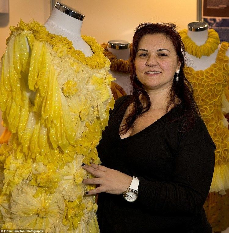 Adriana Bertini Adriana Bertini showcases her gowns made from CONDOMS Daily Mail