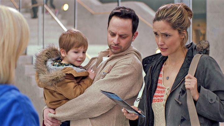 Adult Beginners movie scenes Nick Kroll and Rose Byrne in Adult Beginners Radius