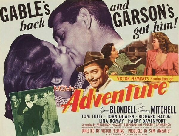 Adventure (1945 film) Adventure 1945 Clark Gable Joan Blondell movies movies movies