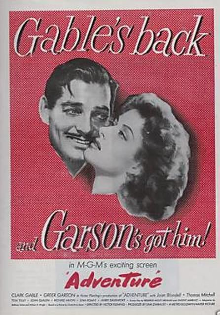 Adventure (1945 film) May Movie of the Month Adventure 1945 Dear Mr Gable
