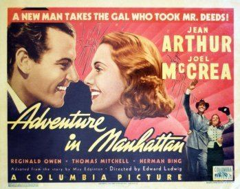 Adventure in Manhattan Adventure in Manhattan 1936 The Blonde at the Film