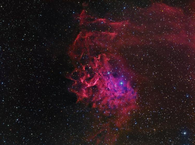 AE Aurigae AE Aurigae and IC405 The Flaming Star Nebula photo Harel Boren