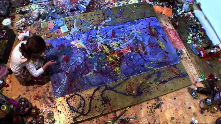 Aelita Andre Aelita Andre in 2013 painting quotBlue Ocean of the Rainbow