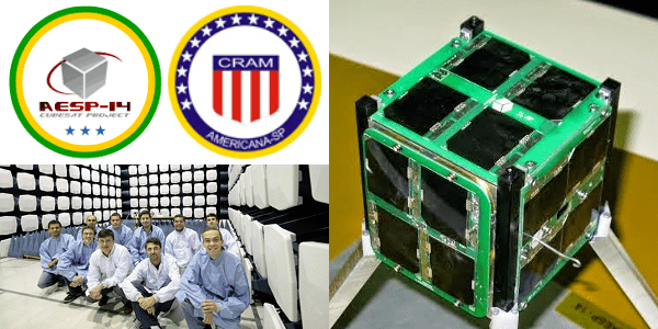AESP-14 AESP14 CubeSat deployed from ISS AMSATUK