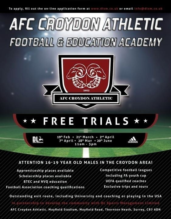 AFC Croydon Athletic Information AFC Croydon Athletic
