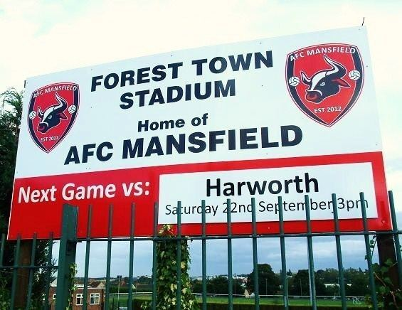 A.F.C. Mansfield THE66POW AFC Mansfield 6 v Harworth Colliery Institute 1 CMFL North