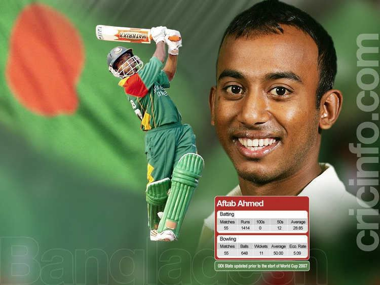 Aftab Ahmed (Cricketer) in the past