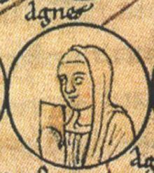 Agnes of Burgundy, Duchess of Aquitaine