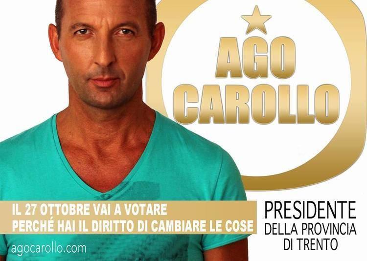 Agostino Carollo Agostino Carollo il candidato presidente a Trento vestito