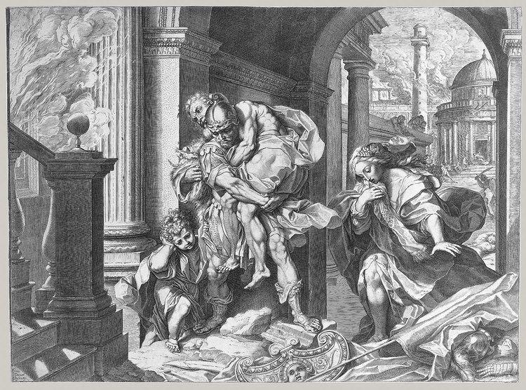 Agostino Carracci Agostino Carracci after Federico Barocci Aeneas and His