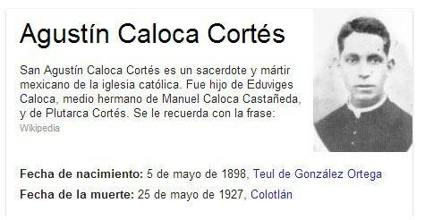 Agustín Caloca Cortés Agustn Caloca Corts 2011 San Agustn Caloca
