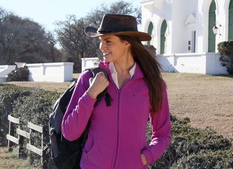 Agustina Quinteros Promocin del turismo pampeano con la modelo Agustina
