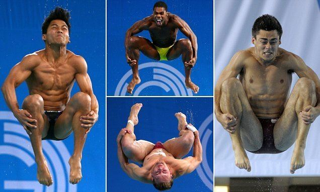 Ahmad Amsyar Azman Making a splash Action shots from Commonwealth Games show divers